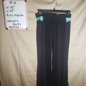 Fila - black athletic pants - sz medium